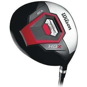 Wilson Staff Herren Golf Driver PRO HDX MRH GRAPHITE, Schwarz Rot, RH (Rechte...