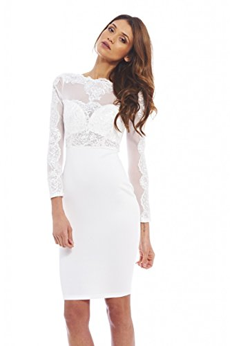 mesh arm dress - 6