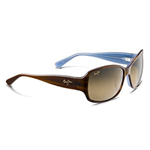 Maui Jim - Nalani - Tortoise With White & Blue Frame-HCL Bronze Polarized Lenses