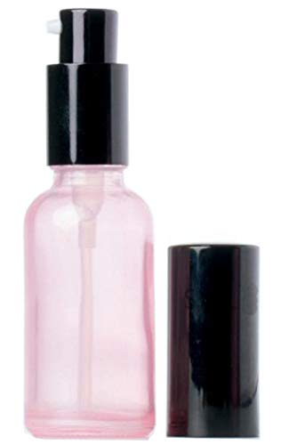 1PC 3.4oz 100ML Pink Glass Empty Upscale Press Pump Bottles
