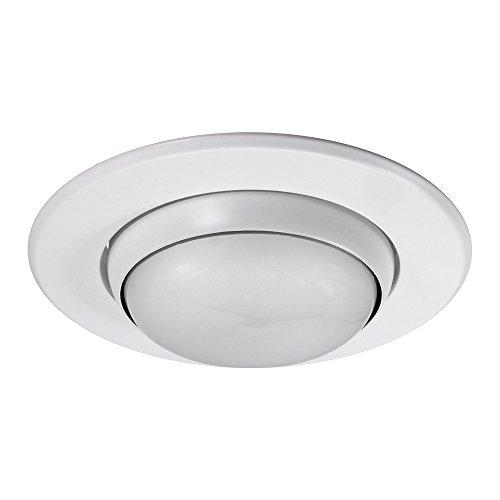 Line Voltage Eyeball Trim - NICOR Lighting 5-Inch Eyeball Trim, White (15506WH)