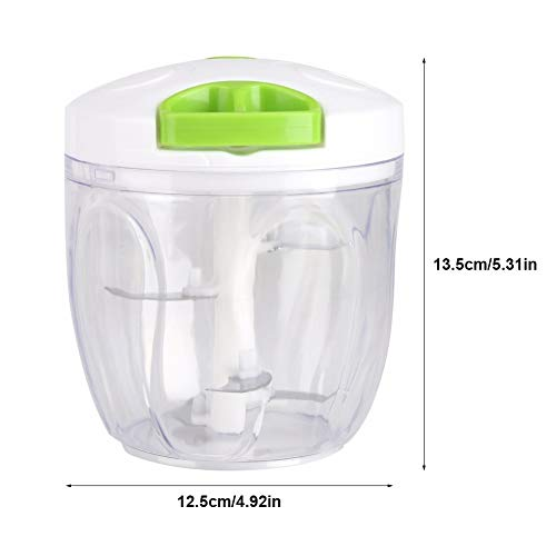 ATK Manual Food Chopper 5 Blades Powerful Easy Pull Upgraded Hand Held Vegetable Onion Chopper/Food Processor/Blender Meat Grinder