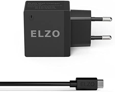 ELZO QC 3.0 Cargador Rápido 18W USB Quick Charger 2.4A para HTC One A9, LG G6 / V20, Samsung S7 Plus / S7 / S7 Edge, Huawei Mate 9, Sony Xperia, Más ...
