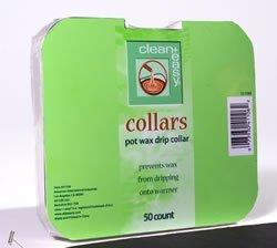 Clean + Easy Deluxe Pot Wax Drip Collars- 50ct
