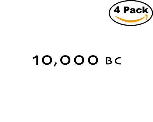 Movie 10000 BC Logo 4 Stickers 4X4 Inches Car Bumper Window Sticker Decal