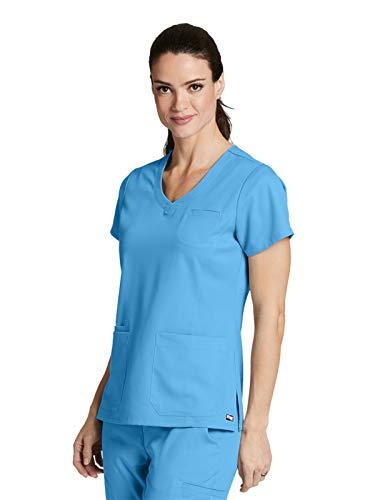 (Grey's Anatomy 41460 Stylized Princess V-Neck Top Ice Berg M)