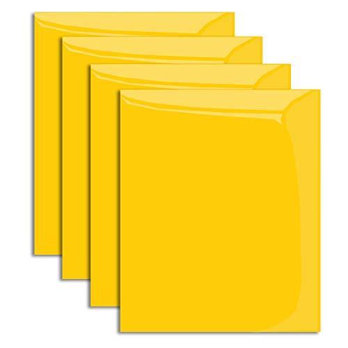 "MiPremium PU Heat Transfer Vinyl, Yellow Iron On Vinyl 12"" x"