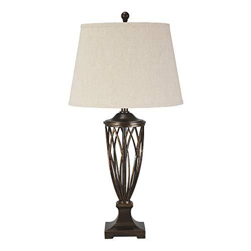 (Ashley Furniture Signature Design -  Makai Metal Table Lamp - Open Base - Brown)