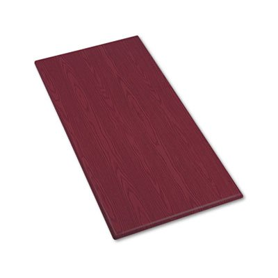 (OfficeWorks Rectangular Table Top, 60w x 30d, Mahogany -)