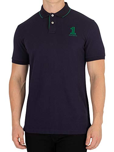 Hackett London Men's New Classic Polo Shirt, Blue, X-Large