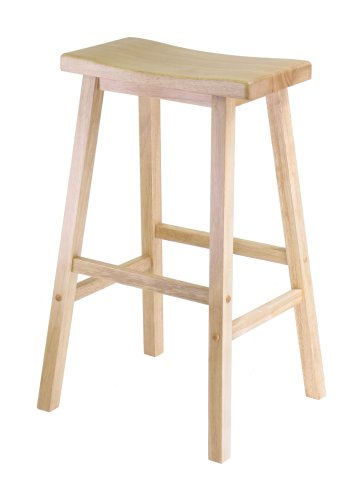 Winsome Wood 29  Saddle Seat Stool Nat.  sc 1 st  Amazon.com : unfinished wooden stools - islam-shia.org