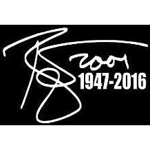David Bowie Autograph WHITE Vinyl Car/Laptop/Window/Wall Decal