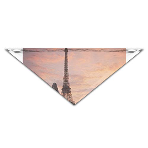 HJudge Dog Bandana Best Things to Do in Paris Dog Scarf Inspiring Puppy Accessories ()