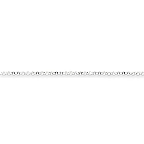 16' Diamond Cut Cable Chain (Roy Rose Jewelry Sterling Silver 1.5 mm 8 Side Diamond Cut Cable Chain 16'' length)