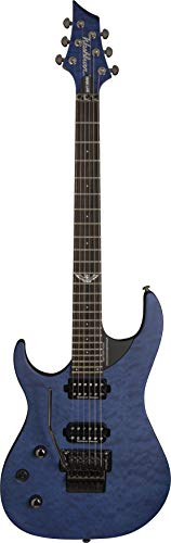 Washburn 6 String Solid-Body Electric Guitar, Quilt Trans Blue Burst (PXM10FRQTBLMLH-D) ()