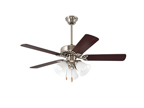 Emerson Ceiling Fans CF710BS Pro Series II Low Profile Hugger Ceiling Fan With Light, 42-Inch Blades, Brushed Steel Finish
