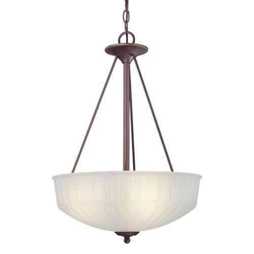 Minka Lavery Pendant Ceiling Lighting 1737-1-167, 1730 Series Large Bowl, 3 Light, 300 Watts, Bronze -