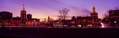 Buildings in a city Country Club Plaza Kansas City Jackson County Missouri USA Poster Print (18 x - Plaza Club County