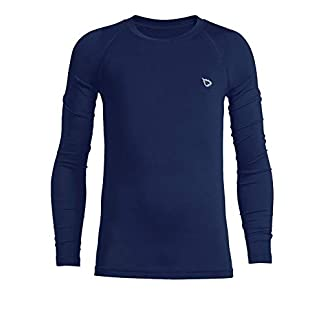 BALEAF Youth Boys' Compression Thermal Shirt Fleece Base Layer Long Sleeve Crew Neck Top 10