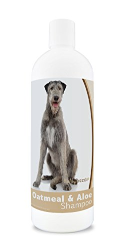Healthy Breeds Oatmeal Dog Shampoo for Allergies for Irish Wolfhound - Over 200 Breeds - 16 oz - Mild & Gentle for Sensitive Skin - Hypoallergenic Formula & pH Balanced