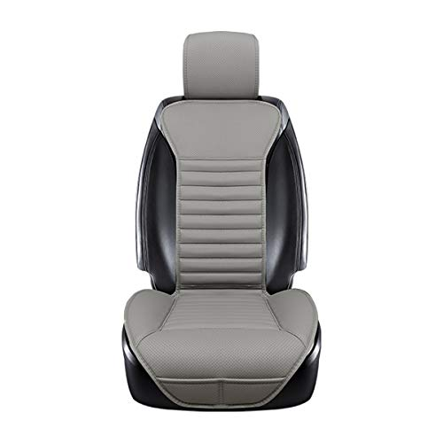 DINKANUR Cover Cushions PU Leather Bamboo Charcoal Car Interior Seats Suit for Most Cars with slim Waistline Backrest (1 PCS )(gray)