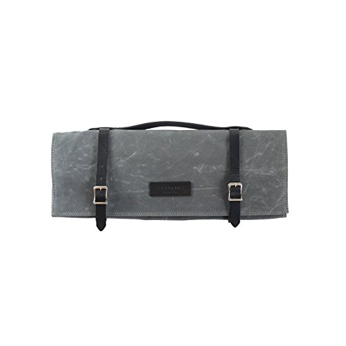 Knife Roll - Waxed Canvas - Charcoal - Made in USA