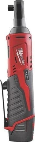 New Milwaukee 2457-21 M12 Cordless 3 8 Ratchet Kit With Battery Charger Case