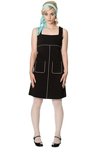 Apparel Vestido Ajustado Para Banned Black Mujer SY8wnqx