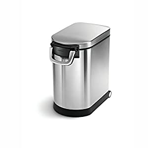 simplehuman Pet Food Storage Can, Brushed Stainless Steel