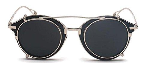 GAMT Reflective Round Sunglasses Unisex Retro Style - James Sunglasses Bond