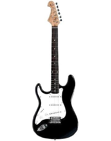 Tenson F503101 - Guitarra eléctrica RC-100, modelo zurdo, color negro