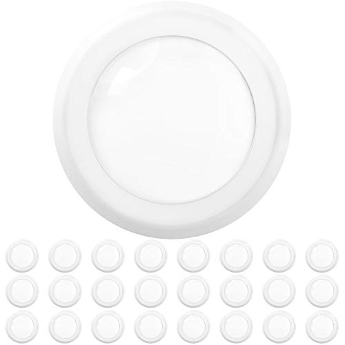 Sunco Lighting 24 Pack 5 Inch / 6 Inch Flush Mount Disk LED Downlight, 15W=100W, 3000K Soft White, 1050LM, Dimmable…