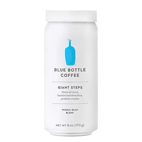 Blue Bottle Coffee Giant Steps Whole Bean Coffee, 6 Ounce Can Blend of Sustainably Sourced Coffee Beans in 100% Recyclable Pressure Sealed Can for Optimum Freshness