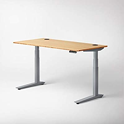 Terrific Jarvis Standing Desk Bamboo Top Electric Adjustable Height Sit Stand Desk 3 Stage Extended Range Frame With Memory Preset Handset Controller By Download Free Architecture Designs Licukmadebymaigaardcom