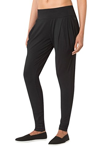 MPG Women's Julianne Hough Collection Elastomer Pleated Pant L Black