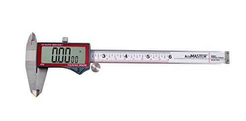 Calculated Industries 7408 AccuMASTER 6-Inch Digital Caliper; Fractional (1/64ths) + Inch + Metric with Largest Display Digits for Woodworkers, Stainless Steel, IP54 by Calculated Industries (Image #5)