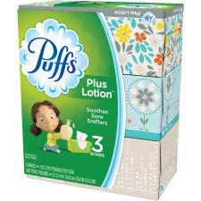 Plus Lotion Facial Tissue, White, 2-Ply, 116/Box, 3 Boxes/Pack (1)