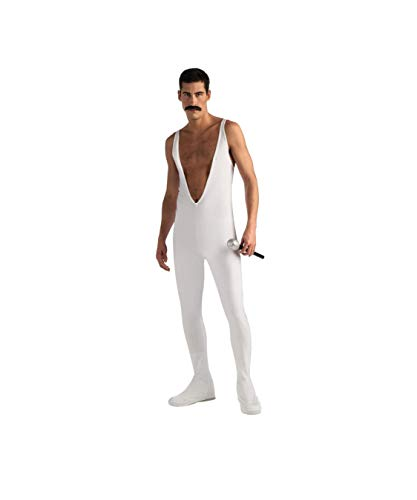 Freddy Mercury Jumpsuit Costume, White, Large]()