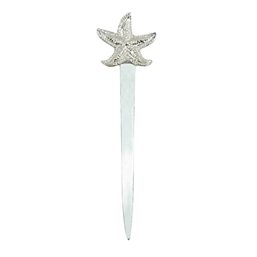 New Silver Starfish Letter Opener Sea Star Envelope Knife Office Desk Accessory
