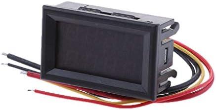 LCD デジタル 電圧計 リチウム バッテリー 容量メーター 0-99.9V 48mm * 29mm * 32mm 全3色 - 赤