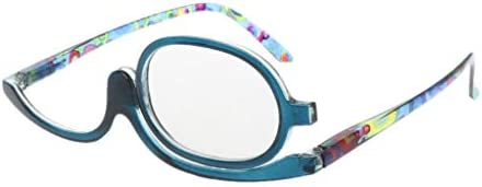 Dabixx メイクアップメガネ, 女性のメイクアップ老眼鏡メガネメガネ老眼鏡+1.00〜+4.0 - 青 - 400