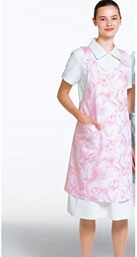 女子 花井幸子 プリント エプロン 白衣 YHC-1288
