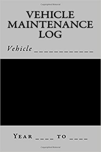 amazon vehicle maintenance log black and silver cover sm car