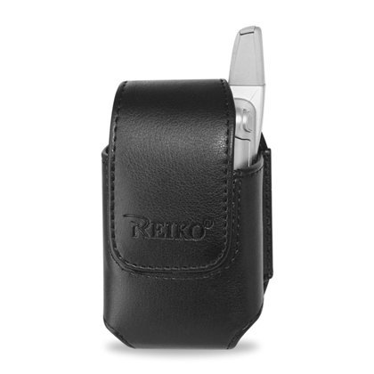 Leather Pouch Protective Carrying Cell Phone Case for AUDIOVOX 8900 / KYOCERA KX160 / LG VX7000 VX8300 LG VX8100 / MOTOROLA A630 NEXTEL I560 IC902 I860 NOKIA 5300 / SAMSUNG A760 i627 (Propel pro) / SANYO M1 / SONY ERICSSON Z300 Z530i Z500 Z750a - Black (Phone Sony Ericsson Case)