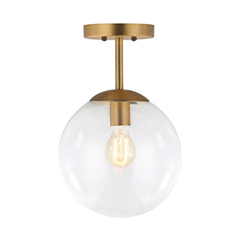 Pendant Lights With Clear Glass Globes - 5