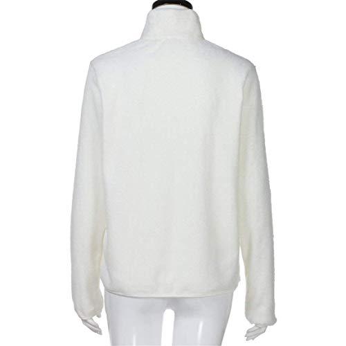 Collo Invernali Outerwear Moda Lunga White Coreana Calda Eleganti Cerniera Casuale Donna Giacca Plush Cappotto Con Manica Unique Giubbotto Autunno Stlie Di wTqHtZx