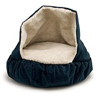 Petmate 25-Inch Burrow Bed, Navy Blue