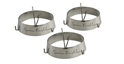 Steven Raichlen Best of Barbecue Stainless Steel Grilling Ring with Spike Set of 3 3-inch Round SR8033 XCH1073