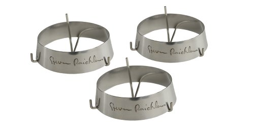 Steven Raichlen Best of Barbecue Stainless Steel Grilling Ring with Spike Set of 3 (3-inch (Grilling Ring)
