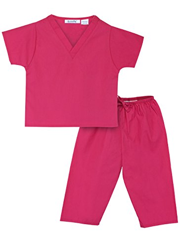 [Scoots Little Girls' Scrubs, Hot Pink, 3T] (Doctor Costumes For Toddlers)